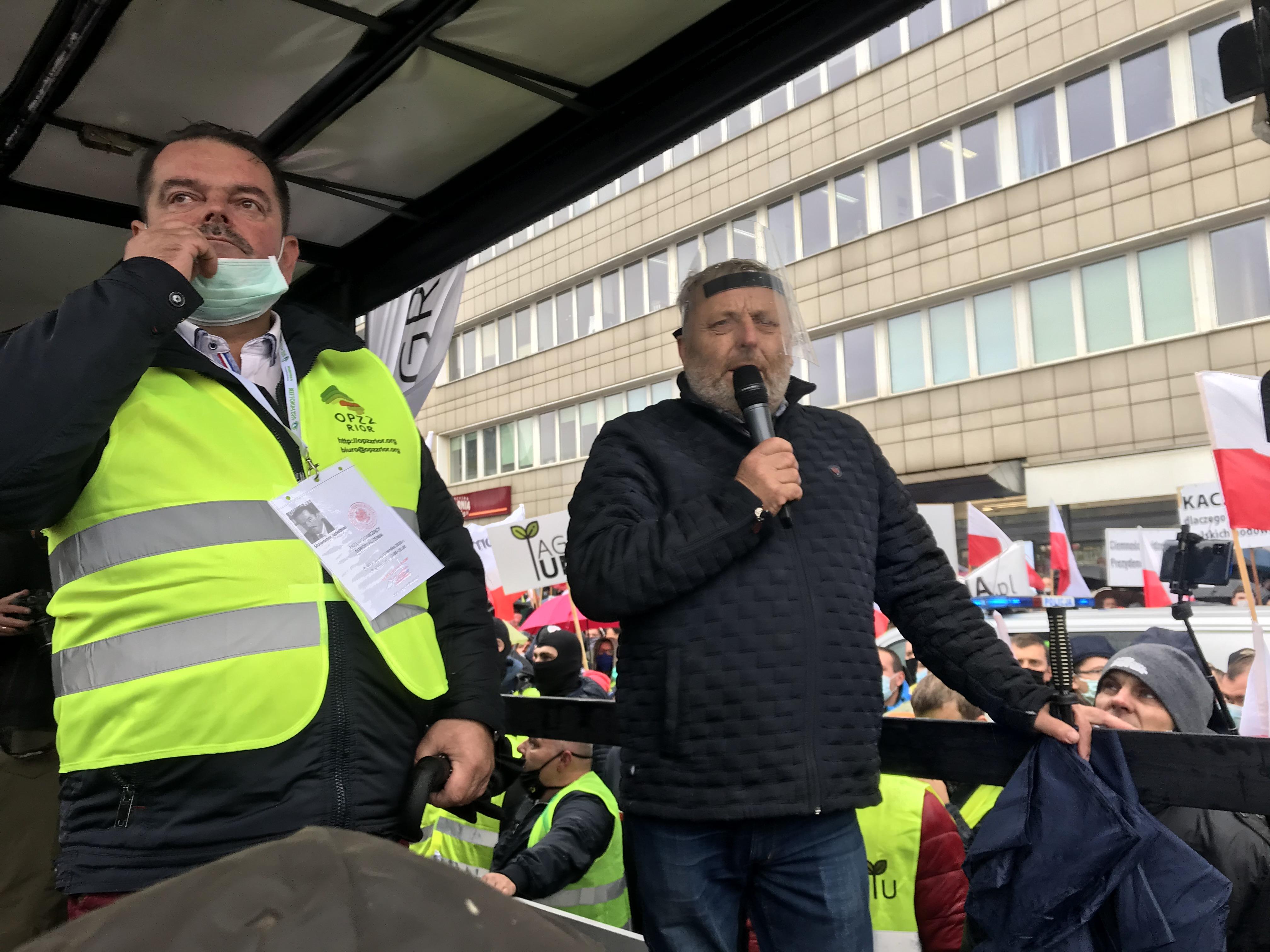 """Wiktor Szmulewicz-protest rolników-""""Piątka dla zwierzą"""""""